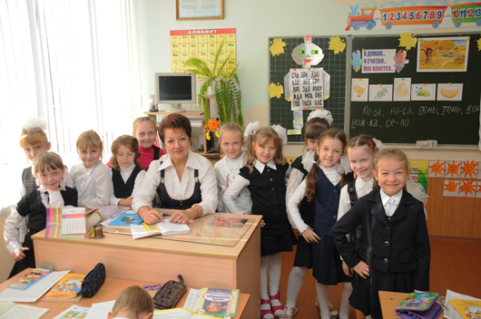 учитель начальных классов СШ №9, педагог высшей категории Людмила Петровна Рак