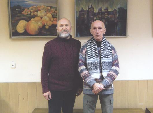 Мозырские художники Николай Дуброва и Генадий Уханов