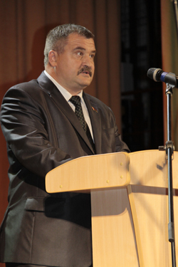 председатель Мозырского районного Совета депутатов Сергей Александрович Гвоздь