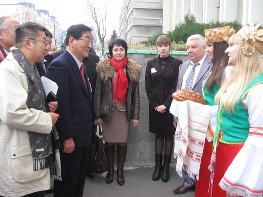 Мозырь встречает японских друзей