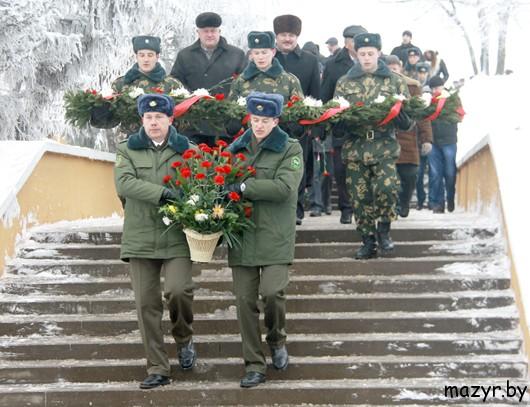 14 января 2013 г. митинг на Кургане Славы, Мозырь