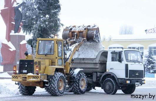Снежная зима 2013 в Мозыре