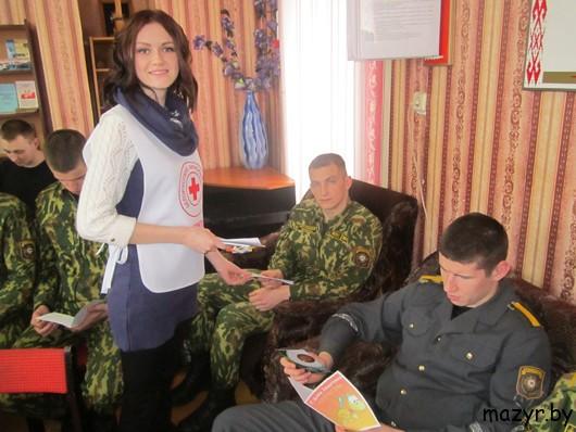 """Акция """"Письмо солдату"""" в воинской части 5525, г.Мозырь"""