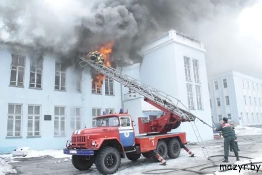 В Мозыре сгорел государственный драмтеатр