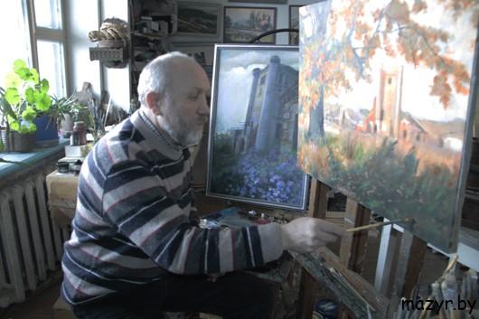 В мастерской мозырского художника Николая Дубровы