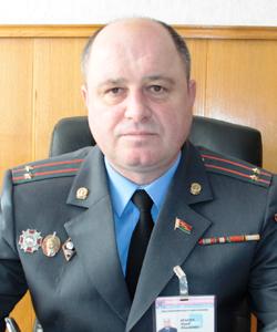 Юрий Федорович КРАСЮК, начальник Мозырского РОВД подполковник милиции