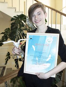 Егор Шаранков, обладатель Гран-при фестиваля.