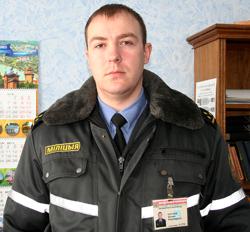 оперуполномоченный уголовного розыска Мозырского РОВД старший лейтенант милиции Евгений ПОРТНОЙ