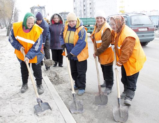 Уборка улицы, Мозырь