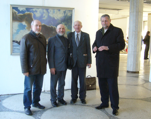 Открытие выставки Николая Дубровы во Дворце искусств (Минск) 28 марта 2013 г.