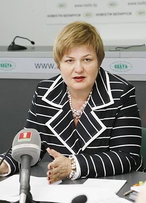 заместитель министра торговли Ирина Наркевич.