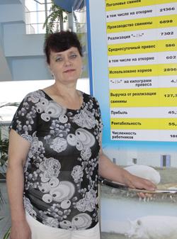 "Оксана Михайловна Шубовская, КСУП ""Совхоз-комбинат ""Заря"""