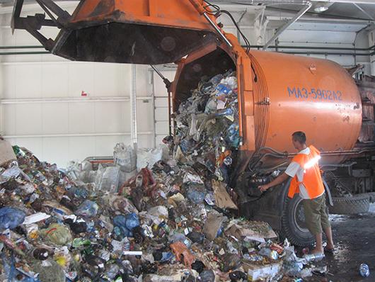 Первым рейсом мы привезли 4,7 т отходов.