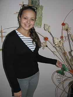 ученица СШ № 14 Ксения ЛЕГЕНЬКАЯ