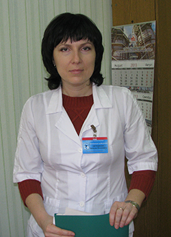 Заведующая отделением гастроэнтерологии (терапия № 2)  Мозырской городской больницы   Н.М.Картавикова.