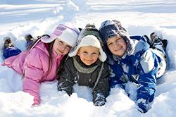 дети зимой