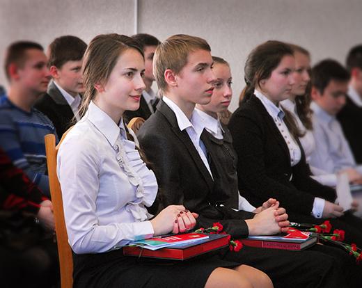 Торжественное вручение молодым мозырянам паспортов РБ