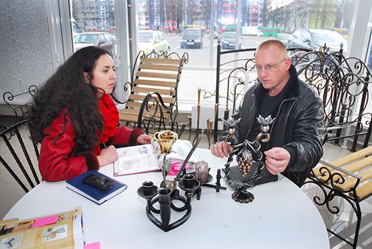 """Ольга Ардашева и Андрей Шутов (директор ООО """"Анлюма"""")"""
