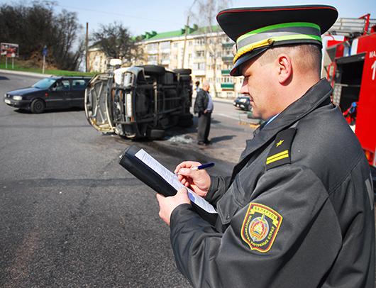 авария возле пл. Примостовая (Мозырь)