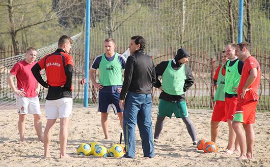 пляжный футбол в Мозыре