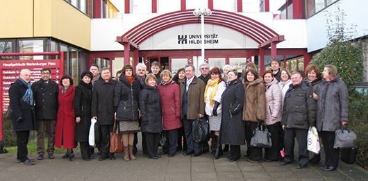 На встрече координаторов по реализации международного образовательного проекта (г. Хильдесхайм, 2014 г.).