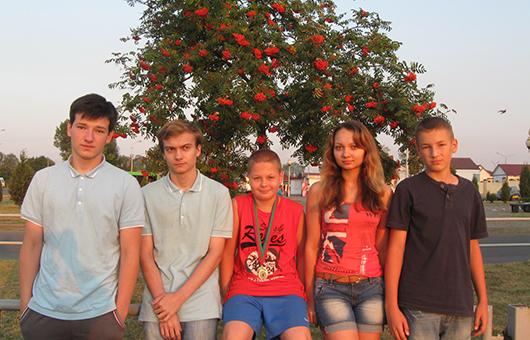 Участники фестиваля Егор Филипец, Дмитрий Будковский, Никита Степнов, Рагнеда Федосенко, Александр Кривошеев.