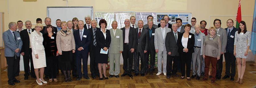Участники конференции с представителями администрации города Мозыря и университета.
