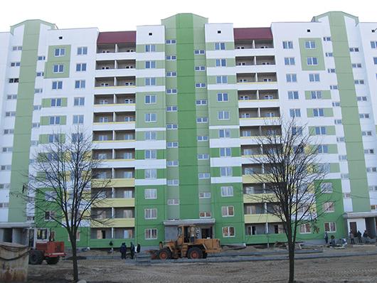 132-квартирный жилой дом КПД №7 в районе жилой застройки Наровчизна (улица Притыцкого).
