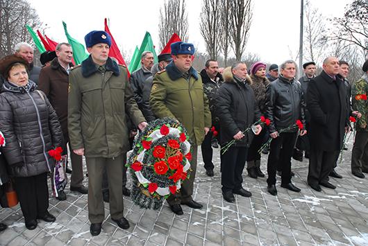 Митинг-реквием в Мозыре накануне Дня памяти воинов-интернационалистов