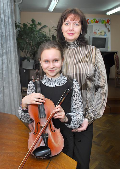 Анна Мамосуева с мамой Светланой Борисовой