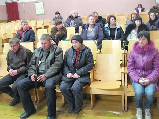 рабочая группа Мозырского райисполкома по работе с лицами, ведущими асоциальный образ жизни в Осовецком сельском Совете
