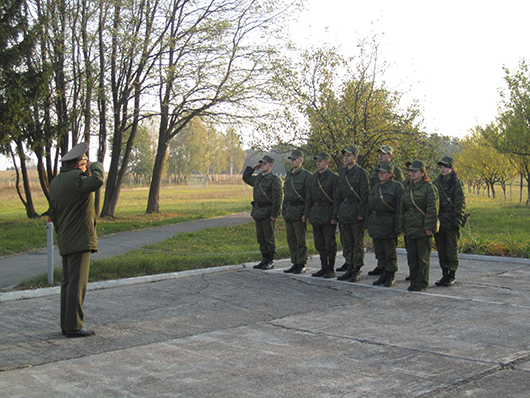 Отдача приказа на заступление на боевое дежурство