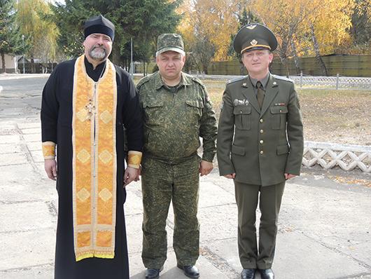 слево на право Отеу Гиоргий ,подполковник Кузавлев Юрий Евгеньевич  и командир батальона