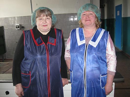Ирина Григорьевна Засимович и Елена Петровна Халявкина