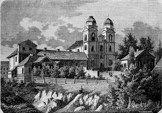 Собор архангела Михаила. Литография XIX века.