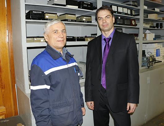 Александр Иванович Новик  и главный инженер А.В.Михнюк