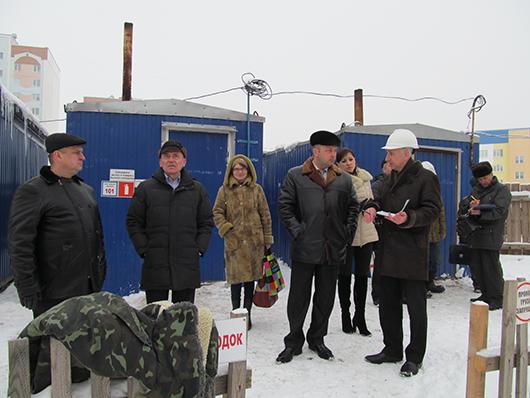 Мобильная группа Мозырского райисполкома на стройплощадках Мозыря
