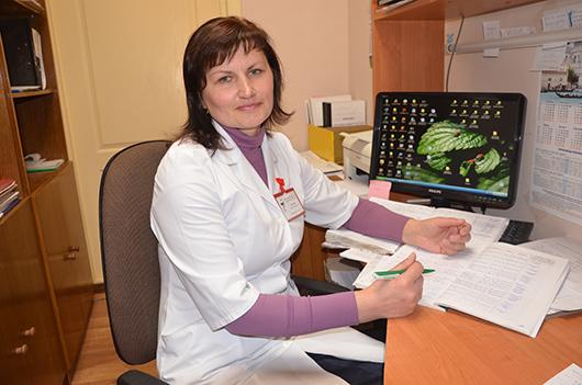 Мария Ивановна Боковец, заведующая хозяйством поликлиники.