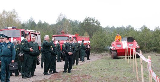 На базе Мозырского опытного лесхоза прошел областной семинар по охране лесов от пожаров