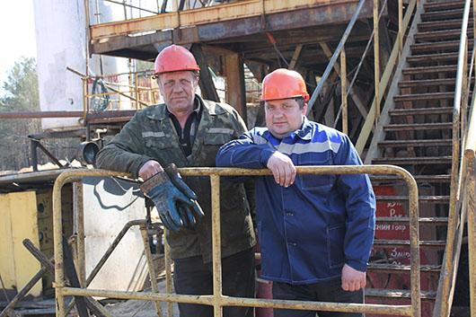 """П.С.Голенчук и В.А.Туровец: """"Наш труд – на общий результат""""."""