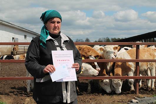 Е.М.Бычковская – животновод с большим стажем. Опытная добросовестная работница, которой предприятие может по праву гордиться.