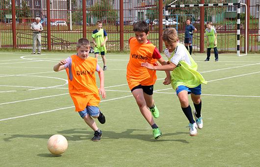футбол среди дворовых команд
