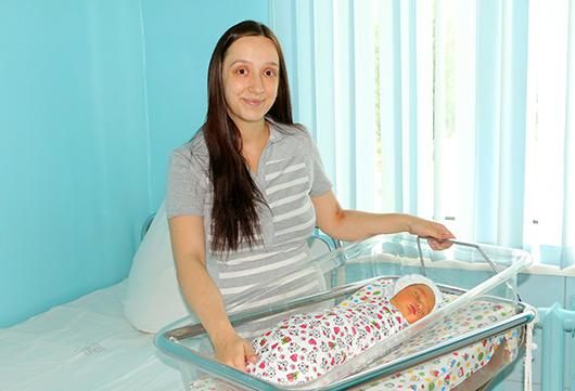 Ольга Хилько и ее малыш Костя.