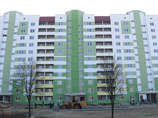 Первый 11-этажный дом в Мозыре.