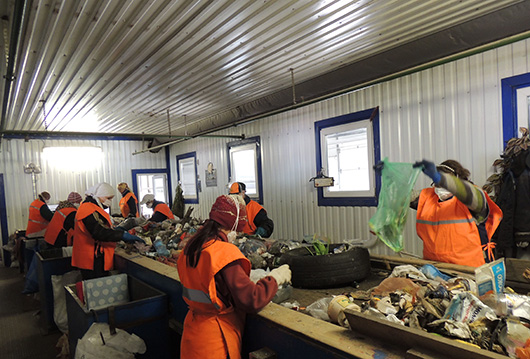 Мозырская станция по сортировке твердых коммунальных отходов3