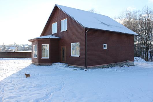 """Вот такой шикарный каркасный дом возведен специалистами  """"Мозырь технадзорстрой"""" в поселке Криничном."""