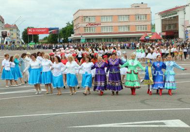 Красиво и величественно отметил Мозырь День Независимости