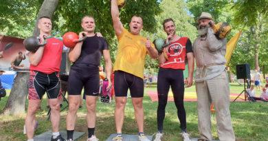 Больше, чем «стопудово»! Мозырские гиревики организовали марафон «Спасибо деду за Победу!»