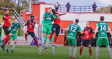 Футболисты «Славии» и «Городеи» сыграли вничью в чемпионате Беларуси